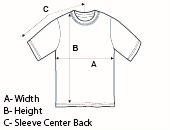 TPW T-Shirt Diagram