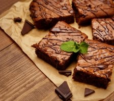 Salted Caramel Protein Brownies
