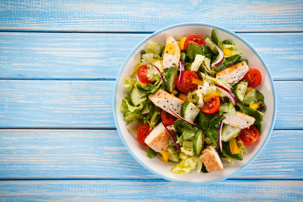 Grilled Chicken, Pear And Walnut Salad