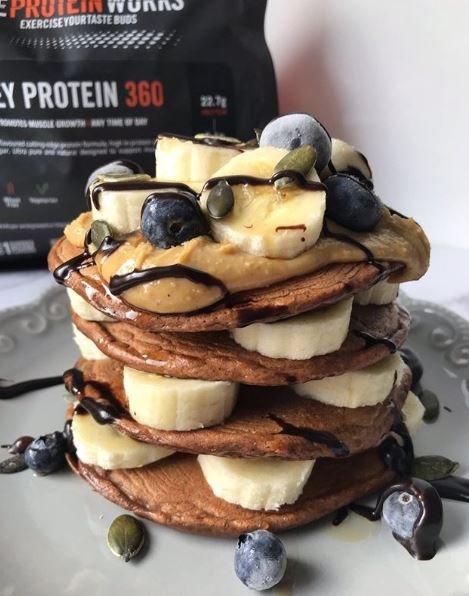 Chocolate Protein Brownie Pancakes Recipe